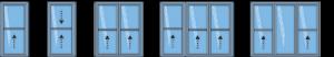 Type de modèles de fenêtres à guillotine