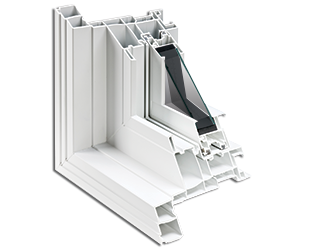 Détail de la fabrication multichambre pour fenêtre à guillotine en PVC